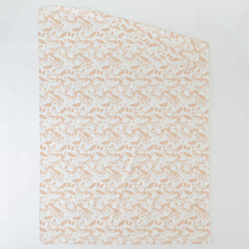 Product image for Peach Modern Butterflies Duvet Cover