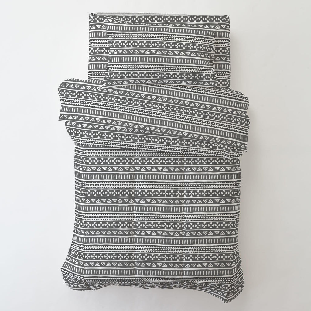 Product image for Gray Watercolor Tribal Toddler Pillow Case with Pillow Insert