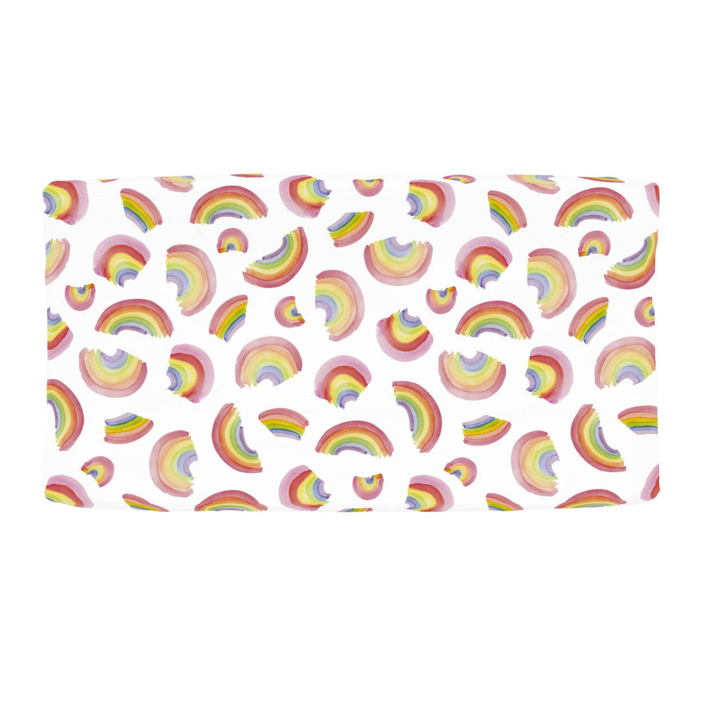 Product image for Watercolor Rainbows Changing Pad Cover