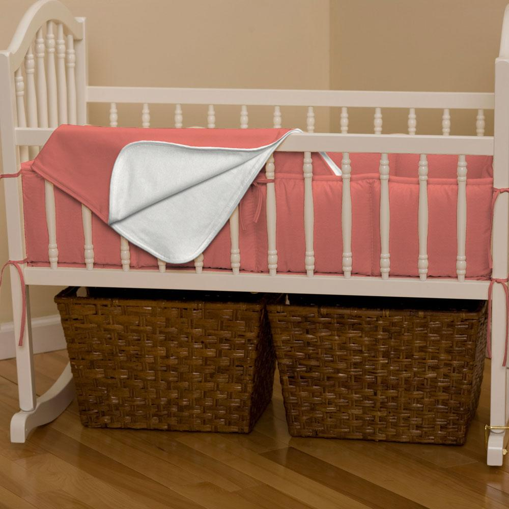 Product image for Solid Coral Cradle Bumper