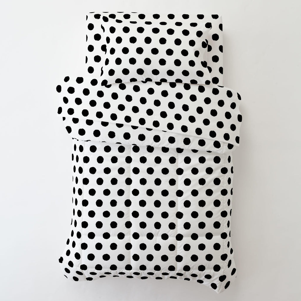 Product image for Onyx Brush Dots Toddler Pillow Case with Pillow Insert