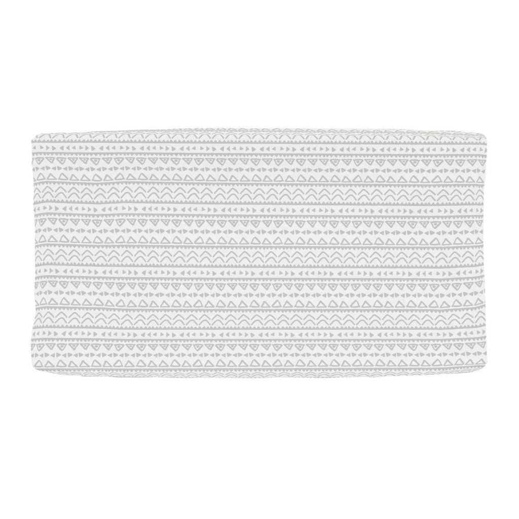 Product image for Silver Gray Baby Aztec Changing Pad Cover