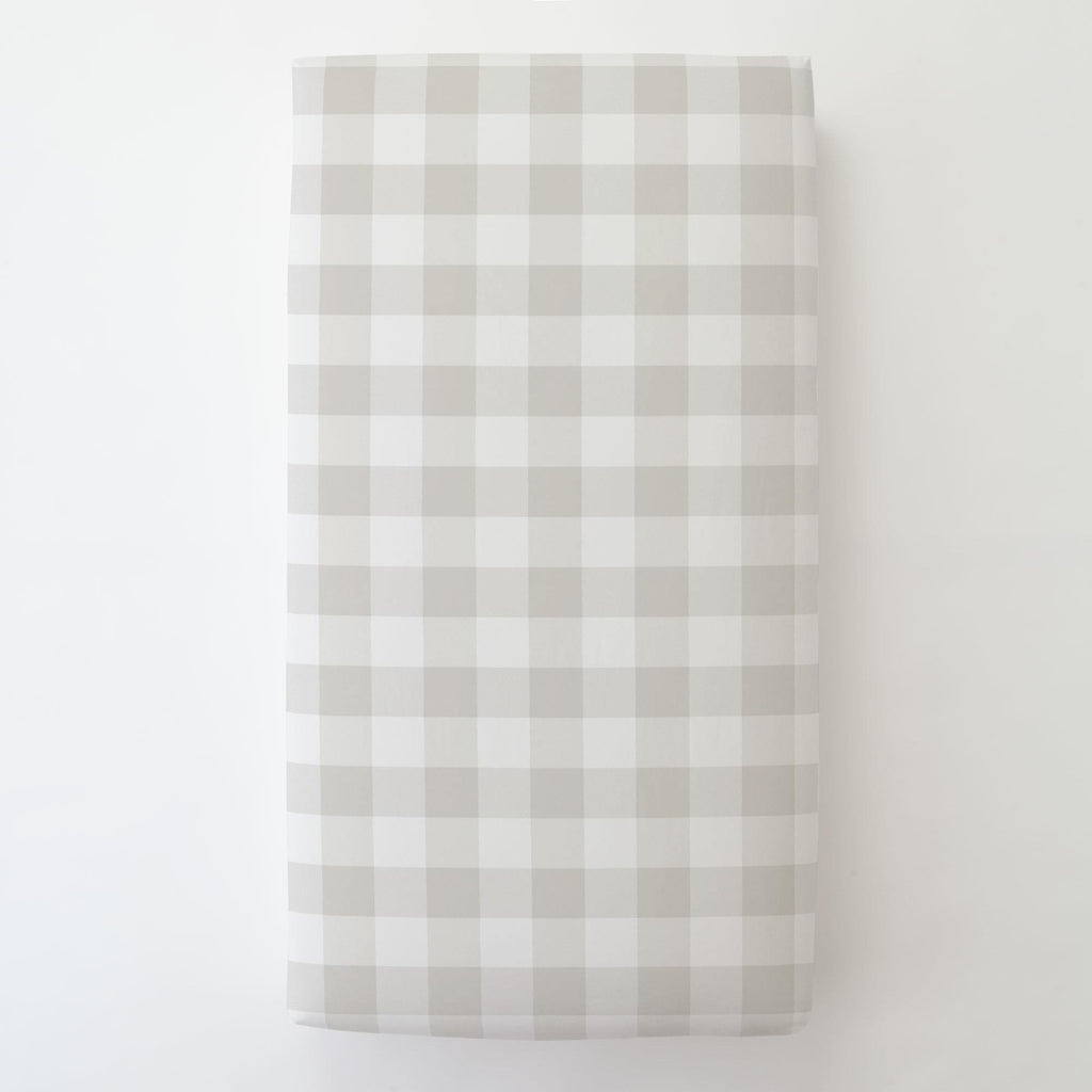 Product image for French Gray and White Buffalo Check Toddler Sheet Bottom Fitted