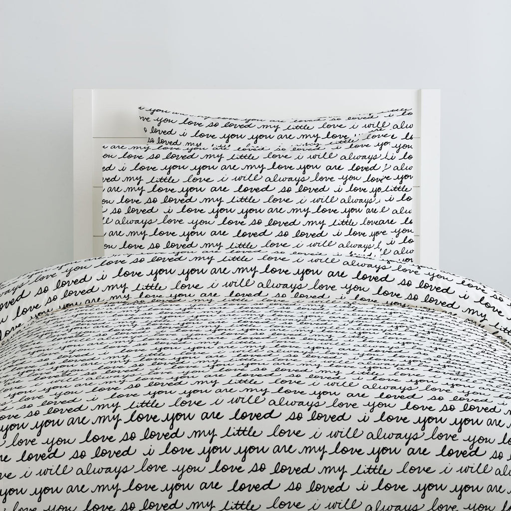 Product image for Onyx Love Words Pillow Case