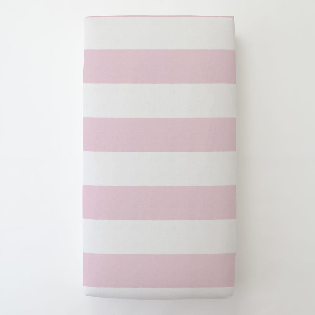 Product image for Pink Horizontal Stripe Toddler Sheet Bottom Fitted
