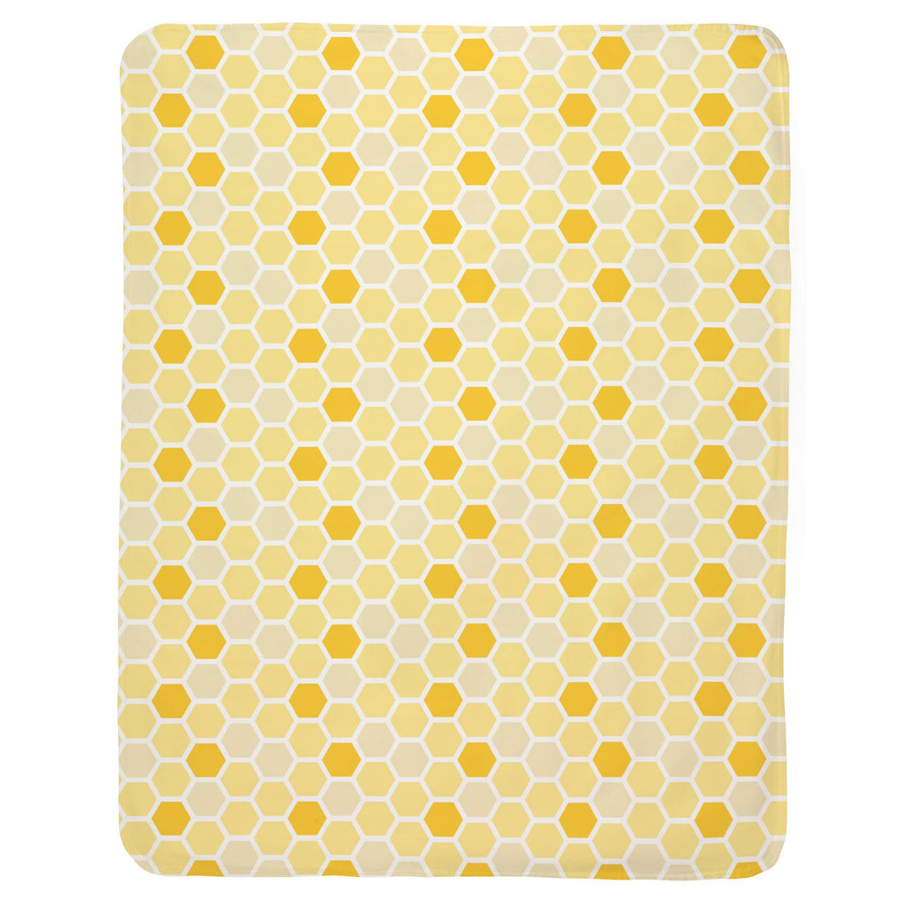 Product image for Yellow Honeycomb Baby Blanket
