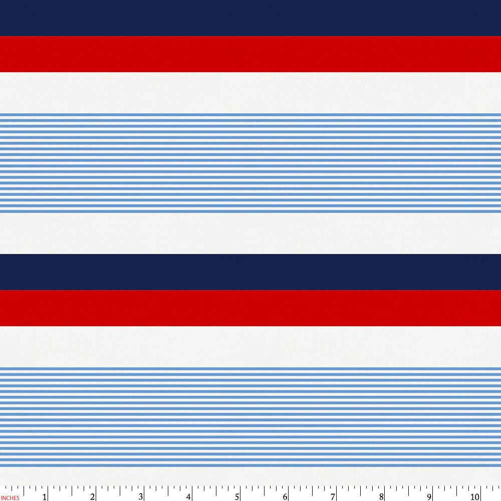 Product image for Red and Blue Stripe Fabric