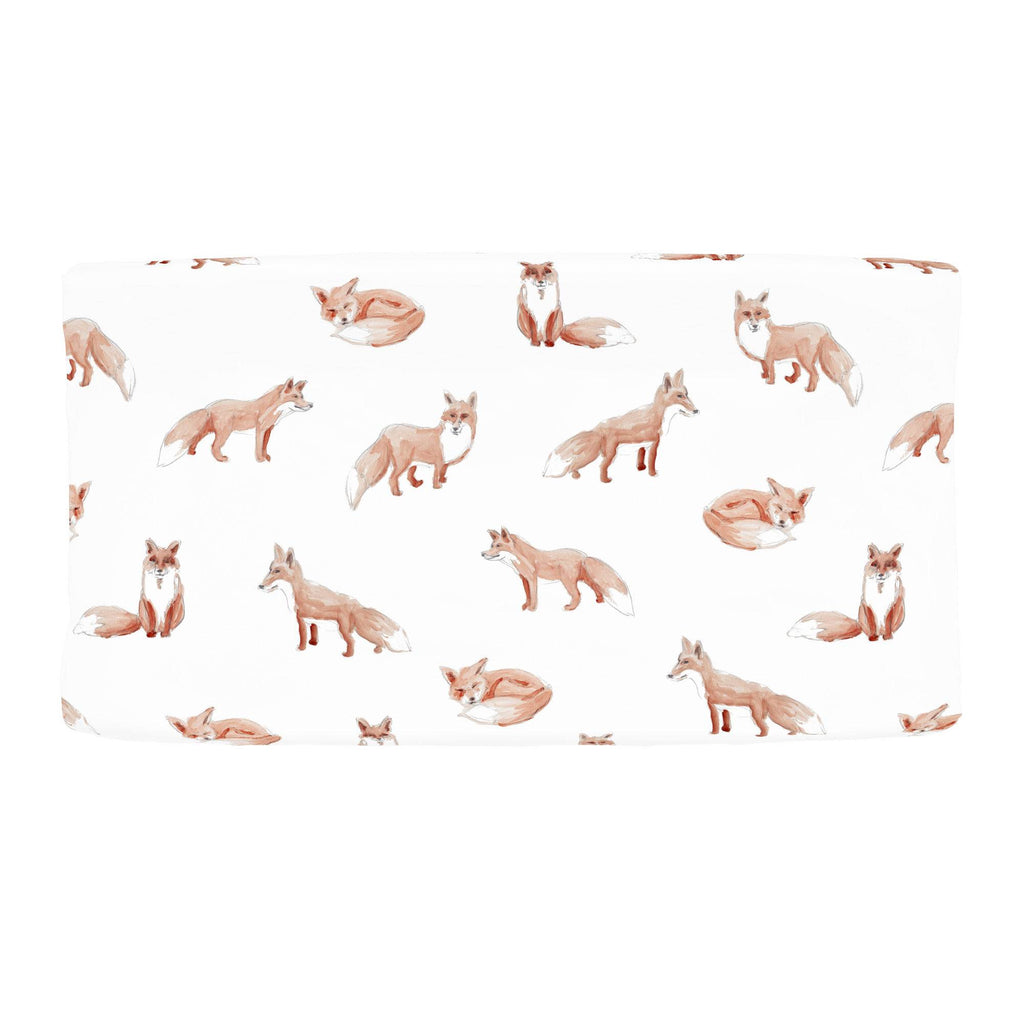 Product image for Watercolor Fox Changing Pad Cover