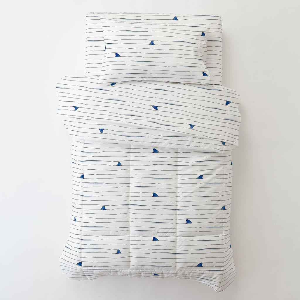 Product image for Shark Fin Stripe Toddler Comforter