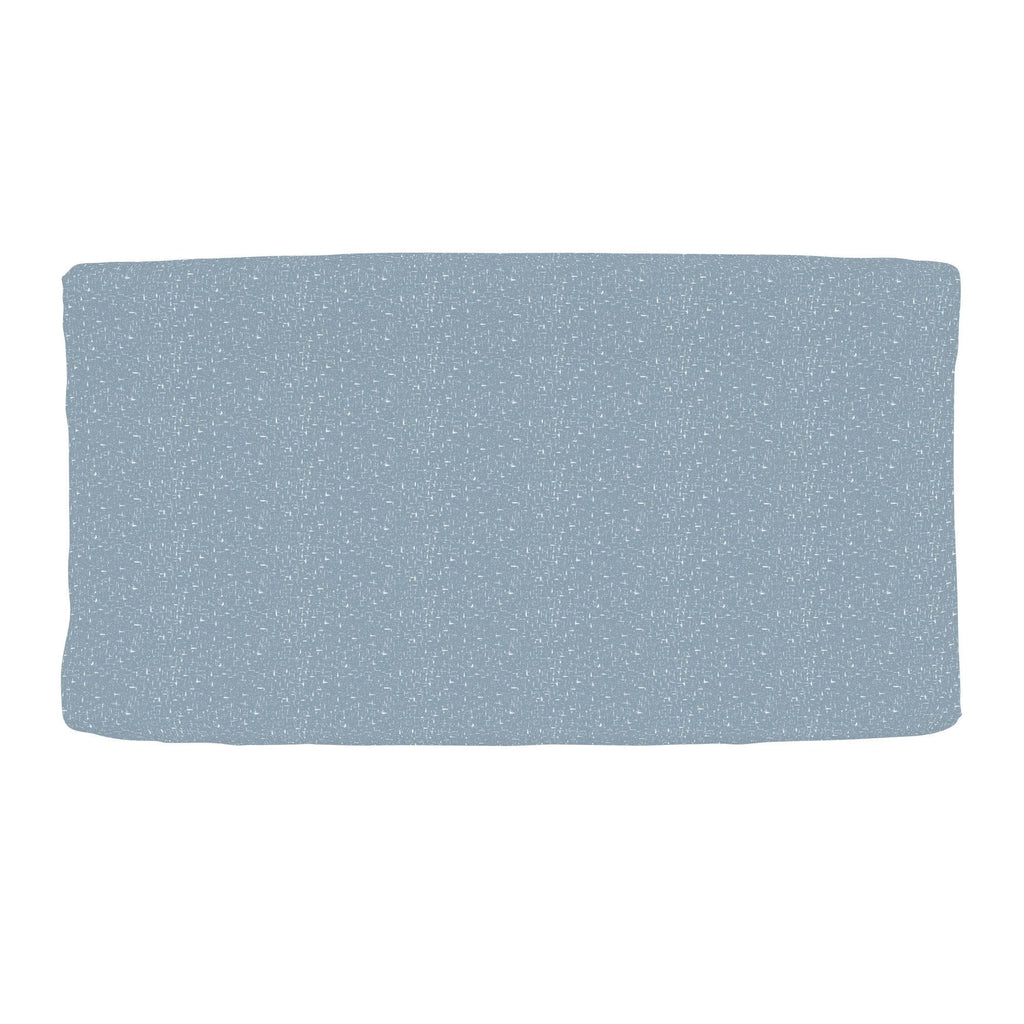 Product image for Steel Blue Heather Changing Pad Cover