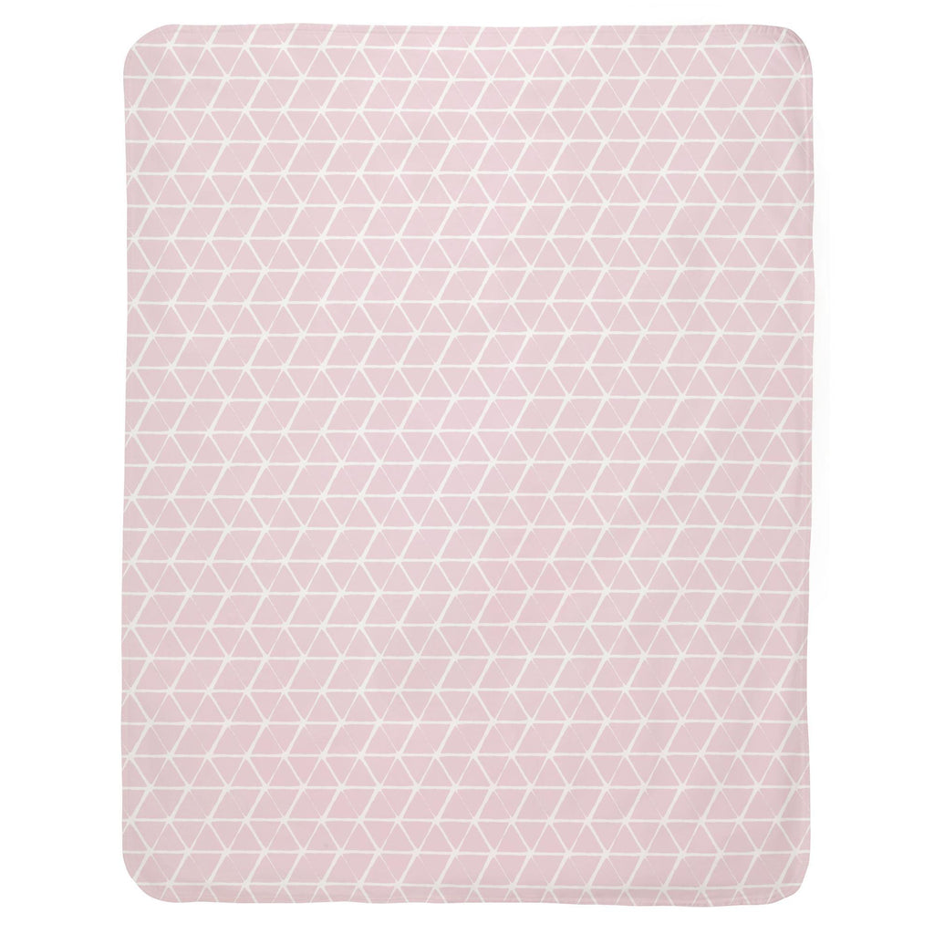 Product image for Pink Aztec Triangles Baby Blanket