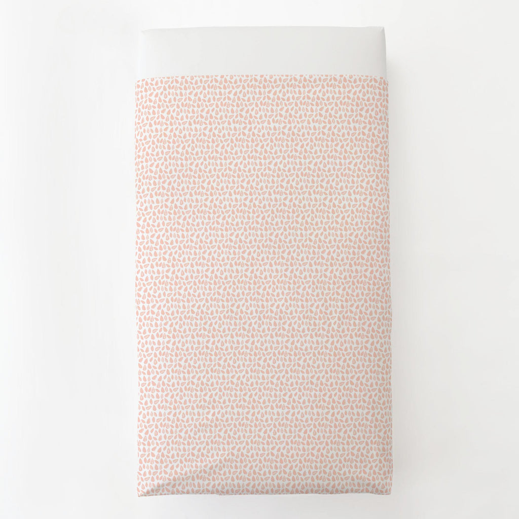 Product image for Peach Woodland Leaf Toddler Sheet Top Flat