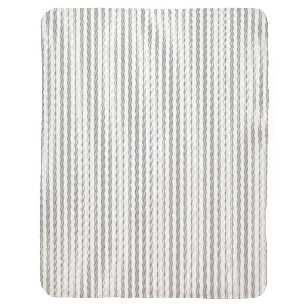 Product image for Cloud Gray Ticking Stripe Baby Blanket