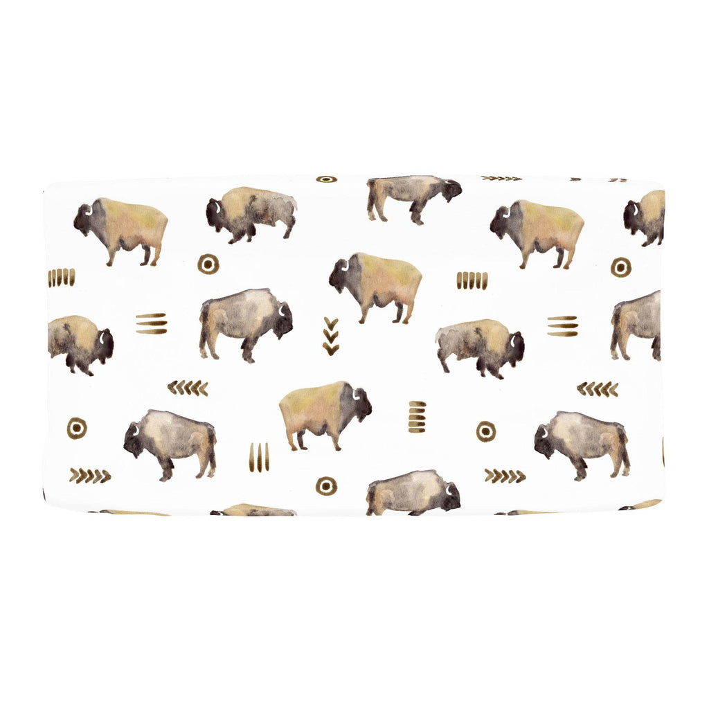 Product image for Watercolor Buffalo Changing Pad Cover