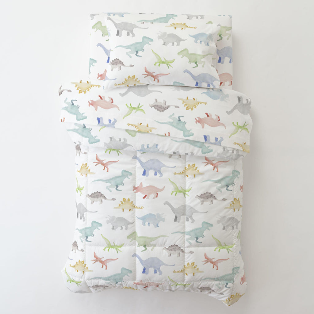 Product image for Watercolor Dinosaurs Toddler Comforter