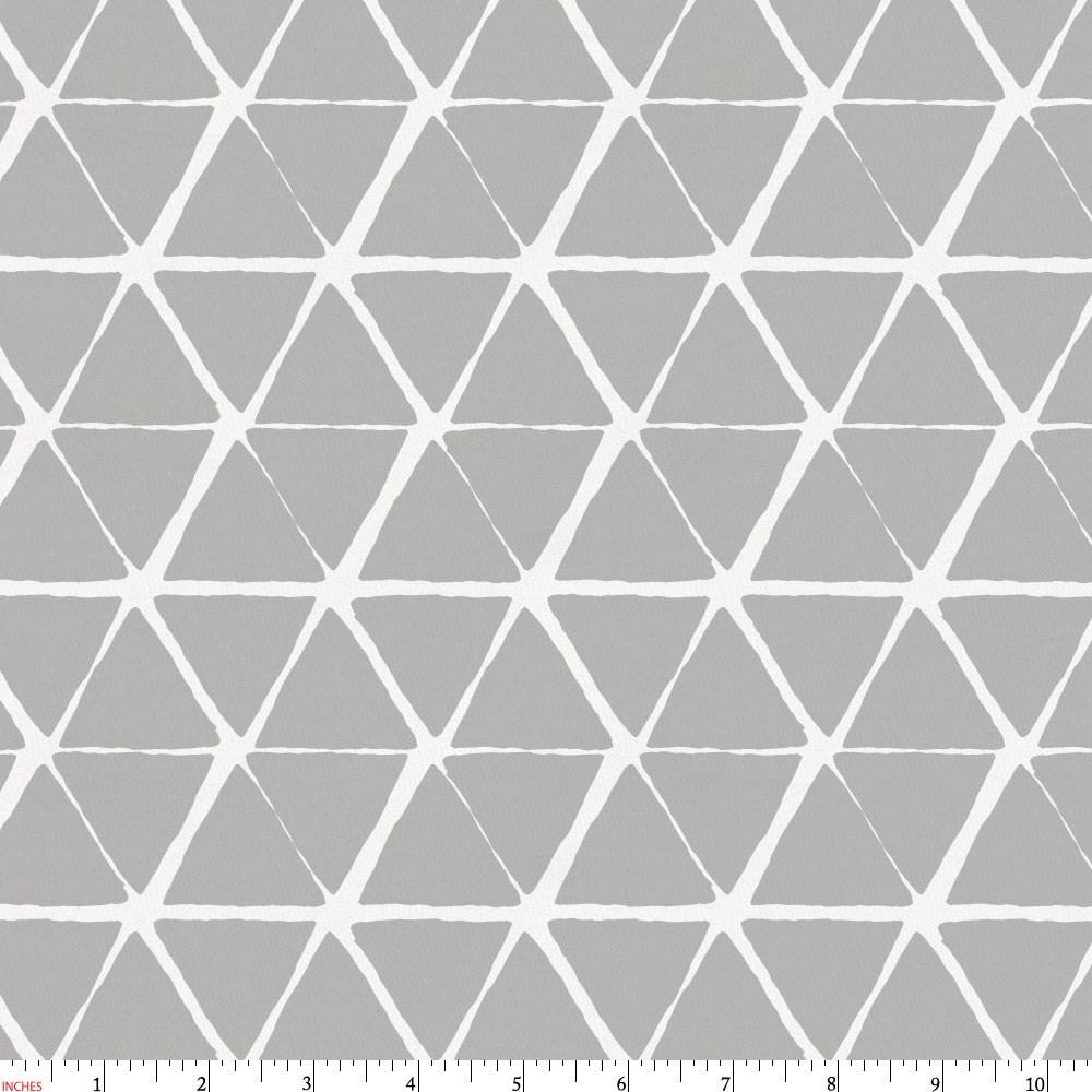 Product image for Gray Aztec Triangles Fabric