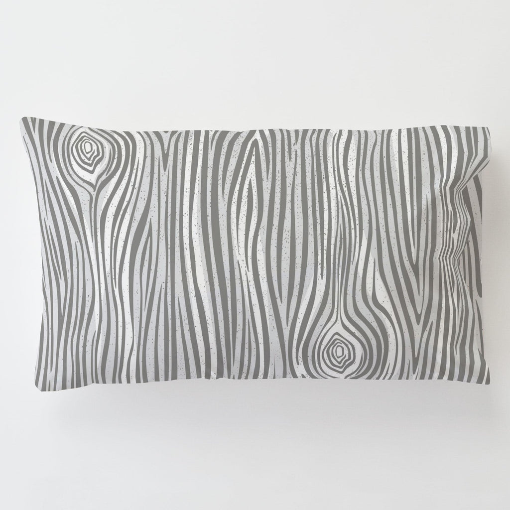 Product image for Gray Large Woodgrain Toddler Pillow Case