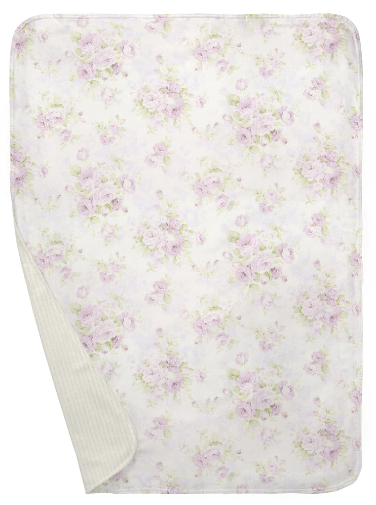 Product image for Lavender Floral Baby Blanket
