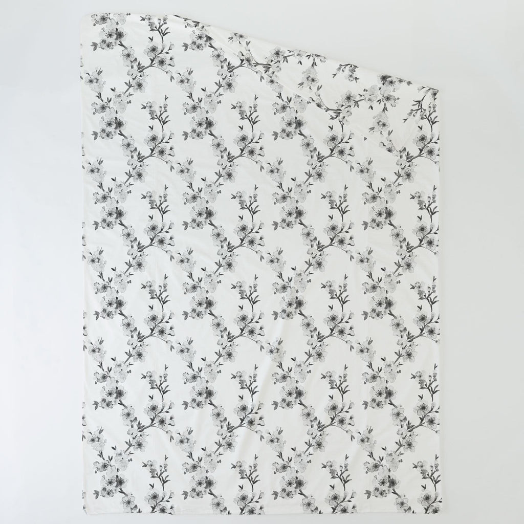 Product image for Gray Cherry Blossom Duvet Cover
