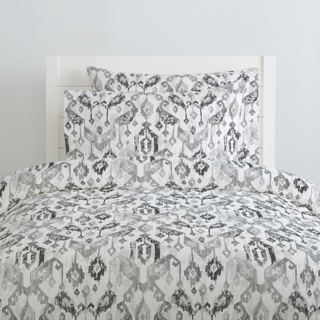 Product image for Gray Tribal Ikat Pillow Case