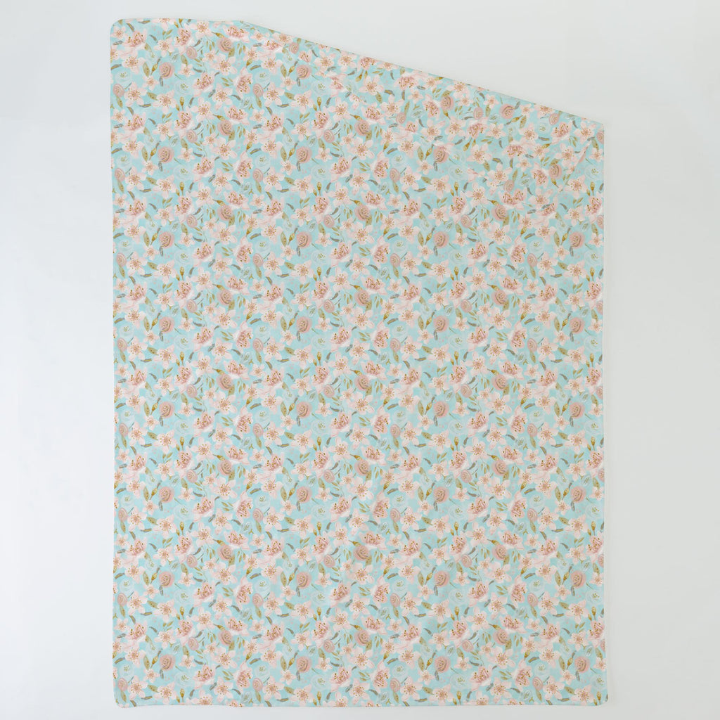 Product image for Aqua and Pink Hawaiian Floral Duvet Cover