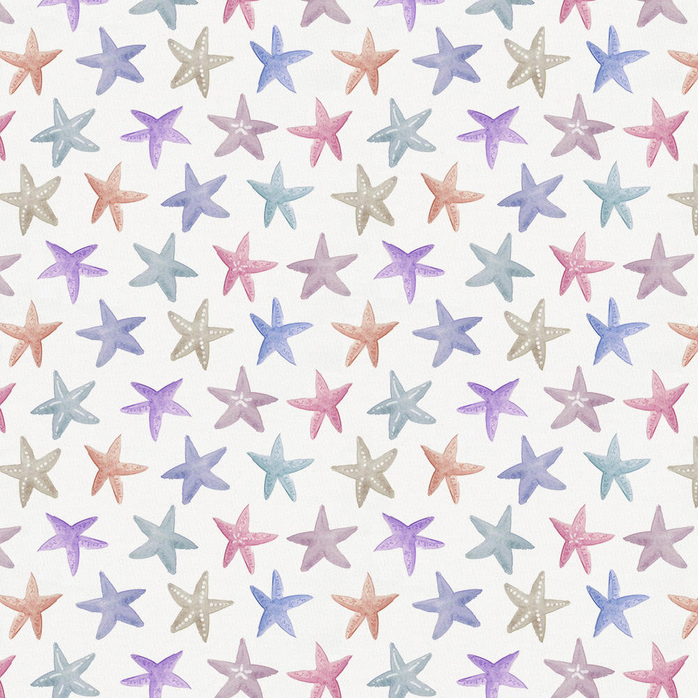 Product image for Watercolor Starfish Drape Panel with Ties