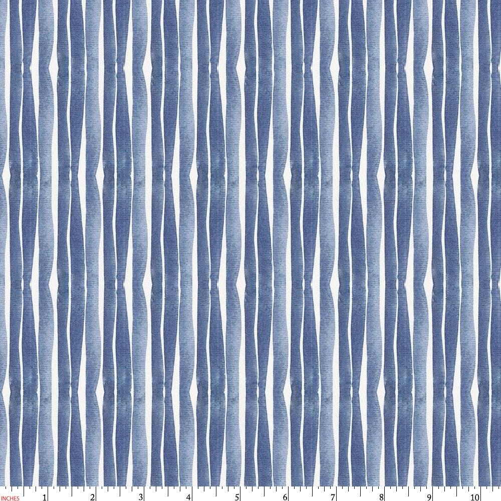 Product image for Blue Ocean Stripe Fabric