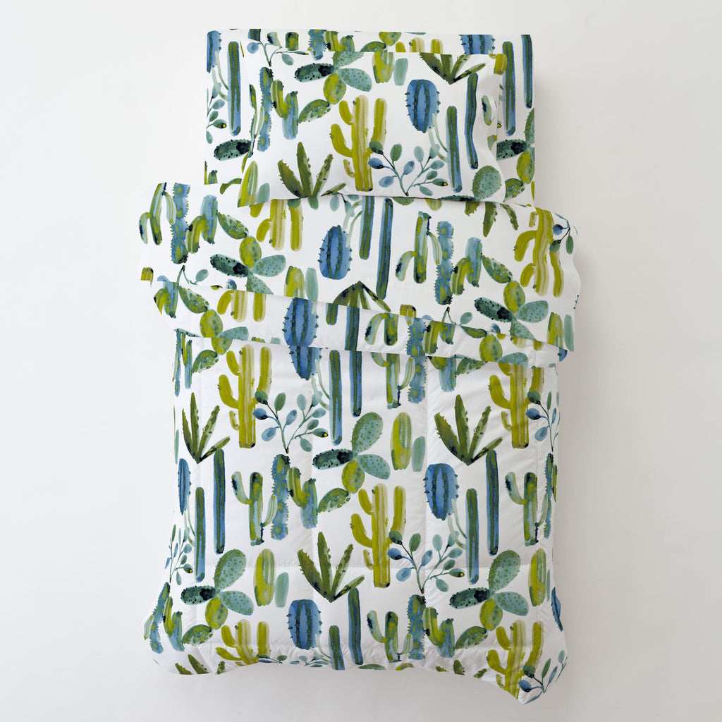 Product image for Blue Painted Cactus Toddler Comforter