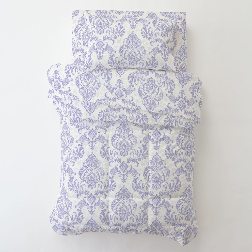 Product image for Lilac Painted Damask Toddler Pillow Case with Pillow Insert