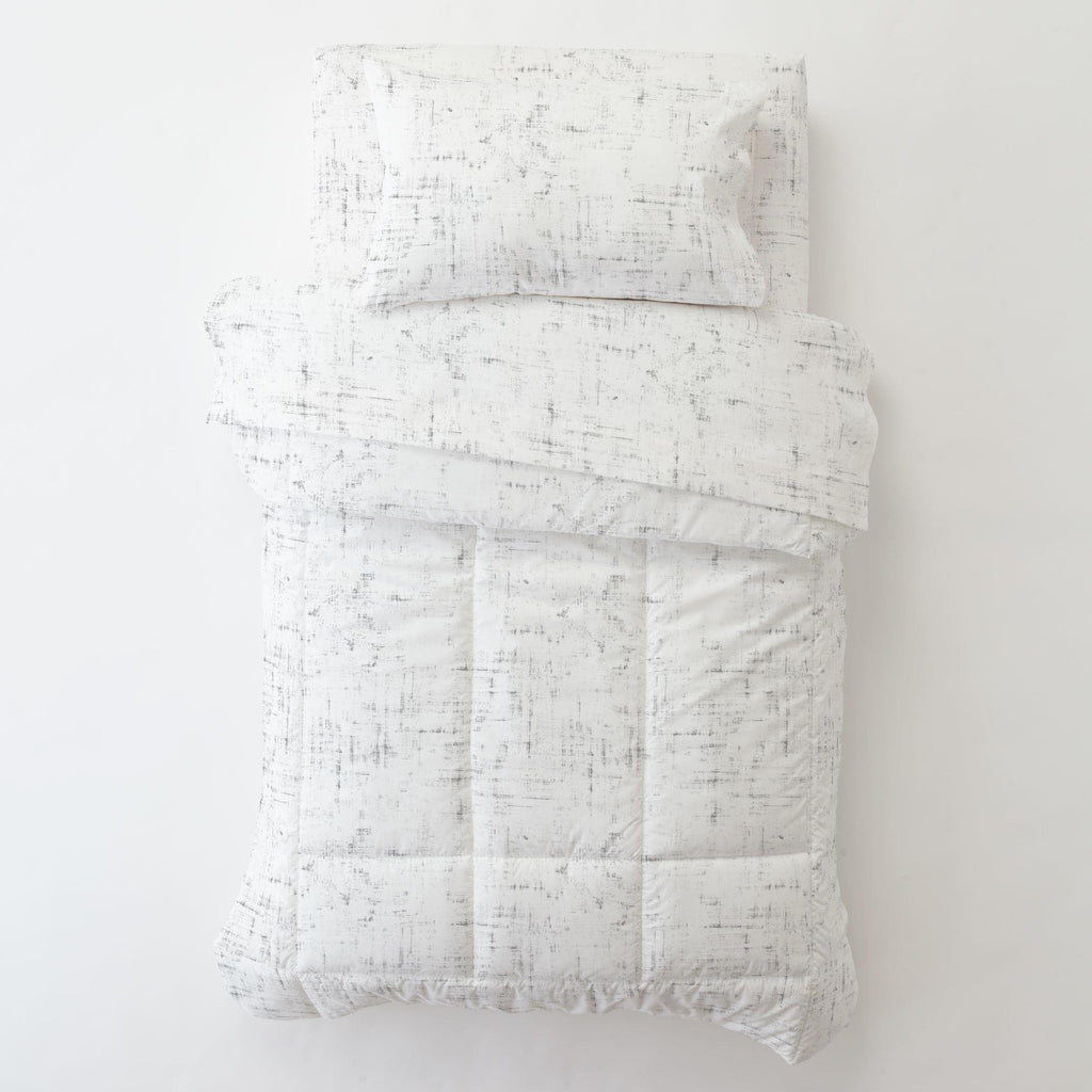 Product image for Cloud Gray Distressed Toddler Comforter