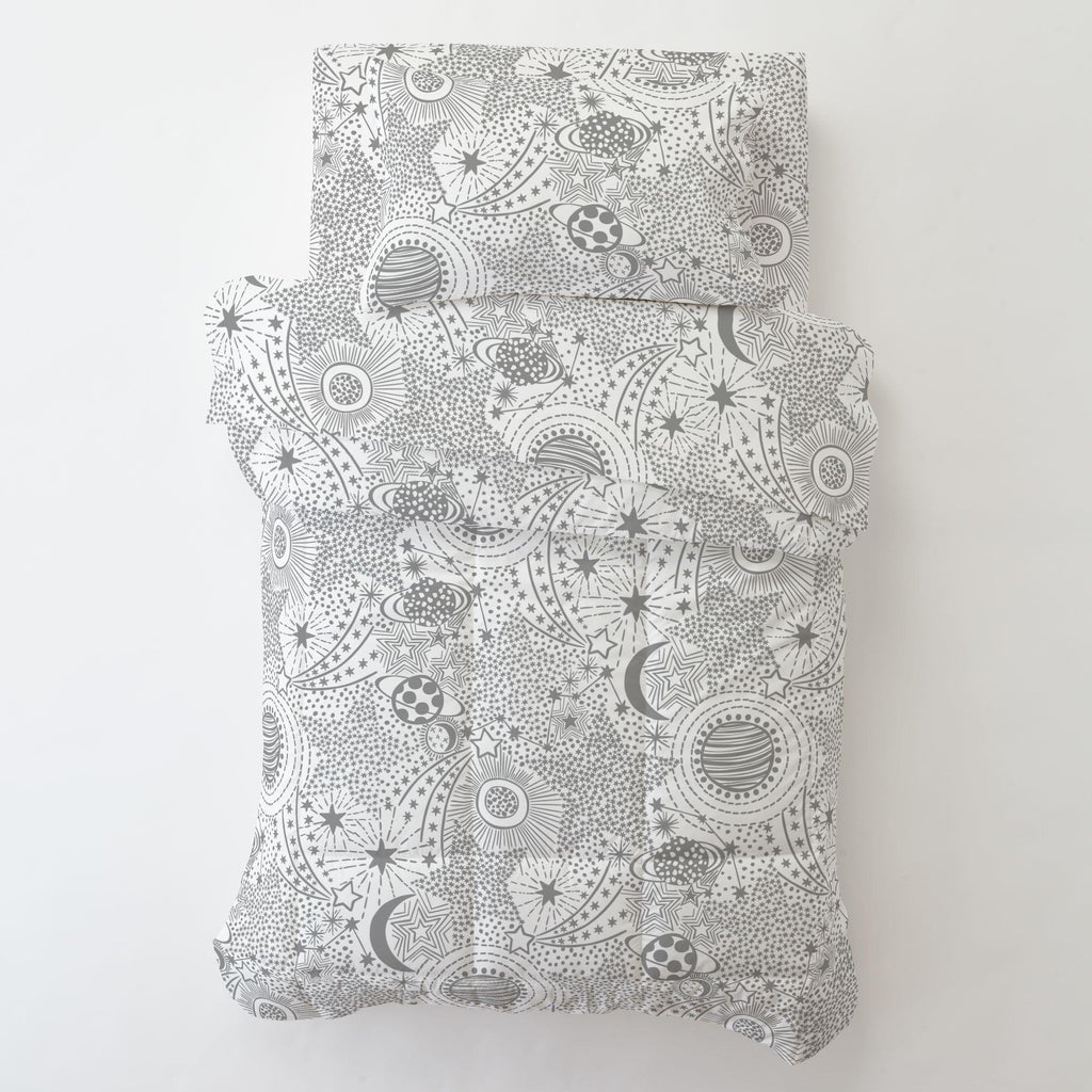 Product image for Cloud Gray Galaxy Toddler Comforter