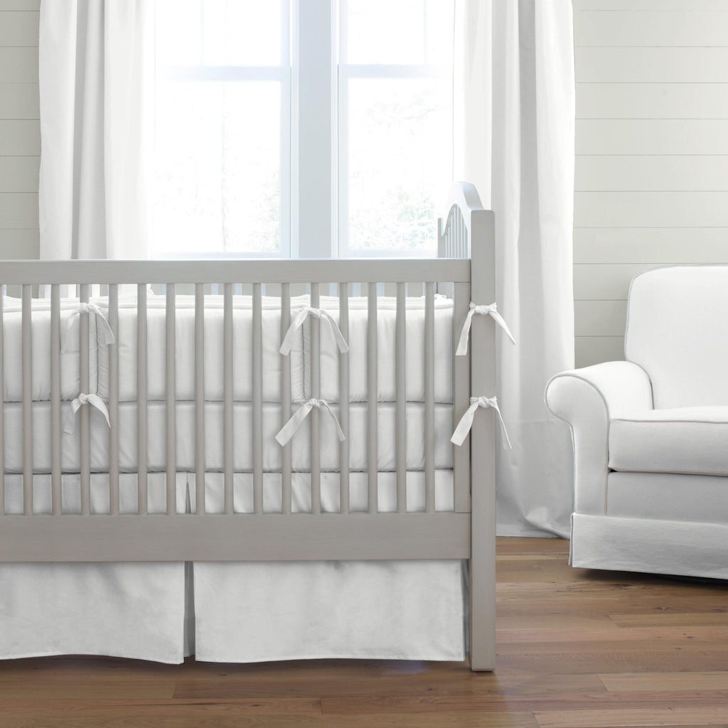Product image for Solid Antique White Crib Bumper