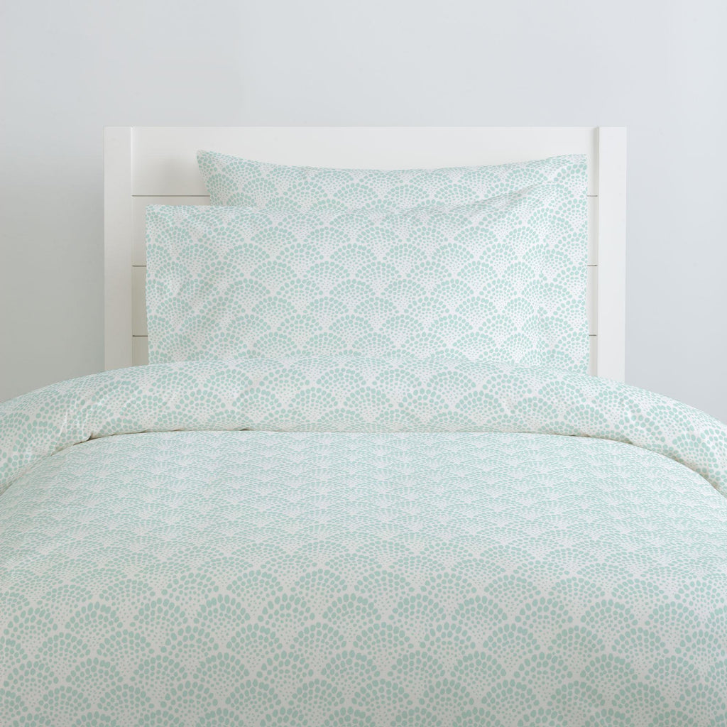 Product image for Icy Mint Scallop Dot Pillow Case
