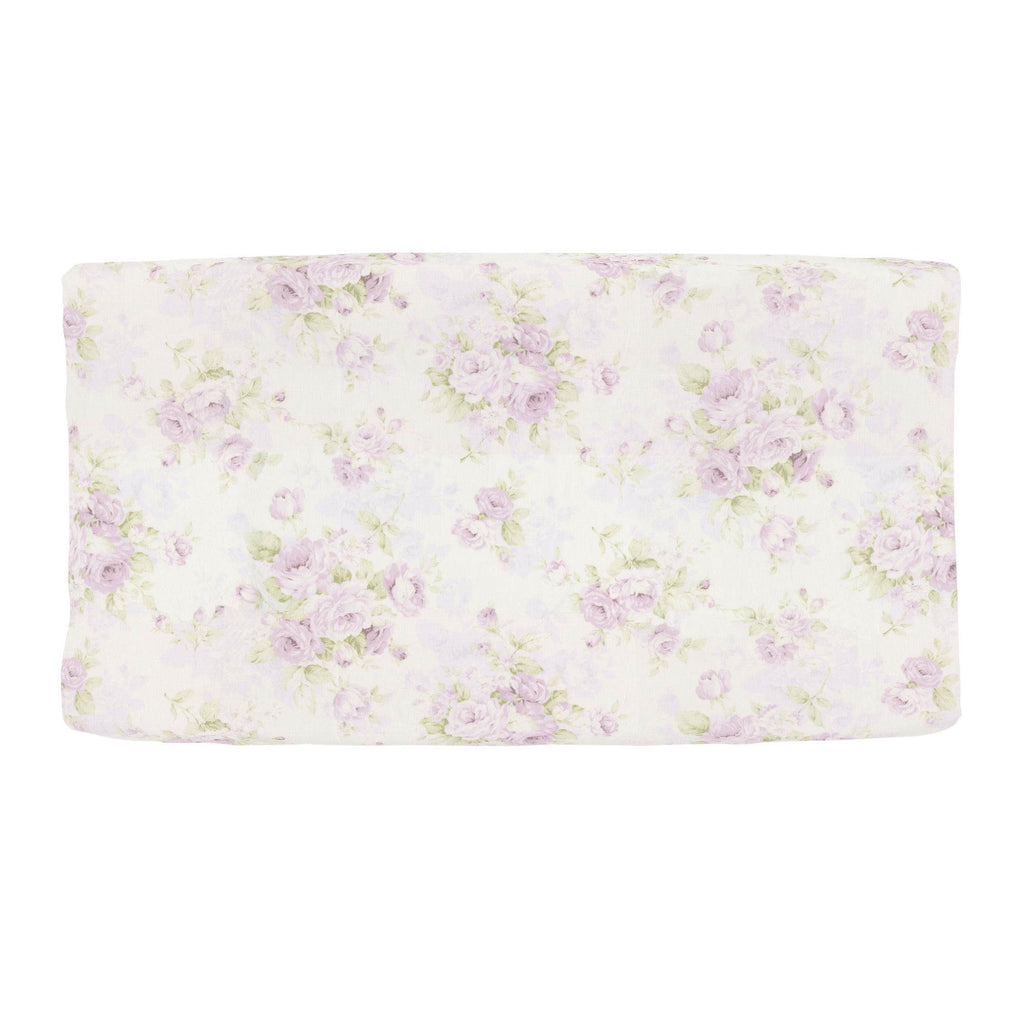 Product image for Lavender Floral Changing Pad Cover