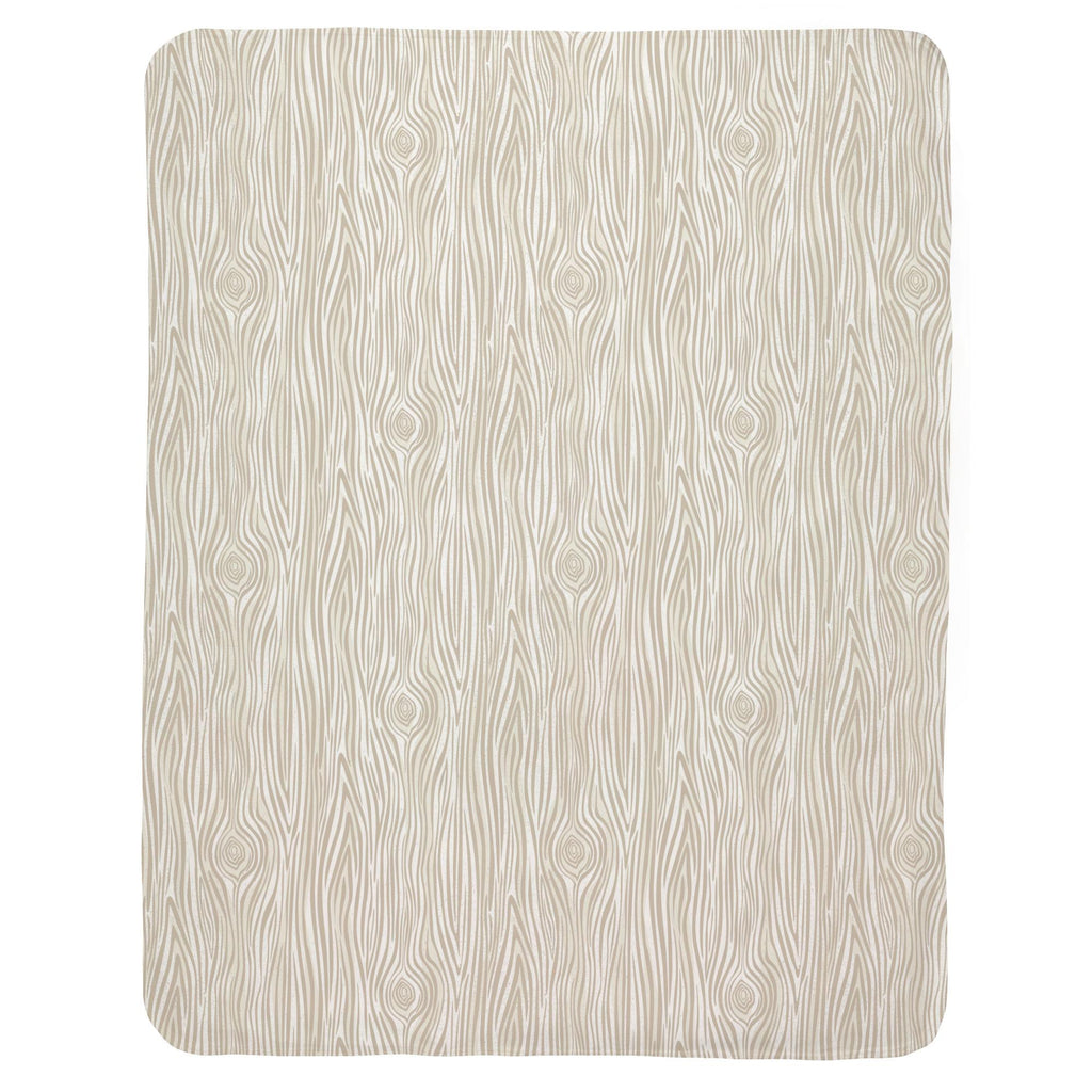 Product image for Taupe Woodgrain Baby Blanket