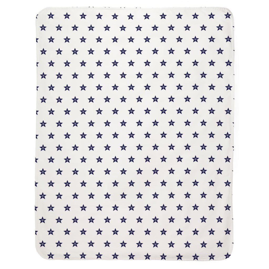 Product image for Navy Mosaic Stars Baby Blanket