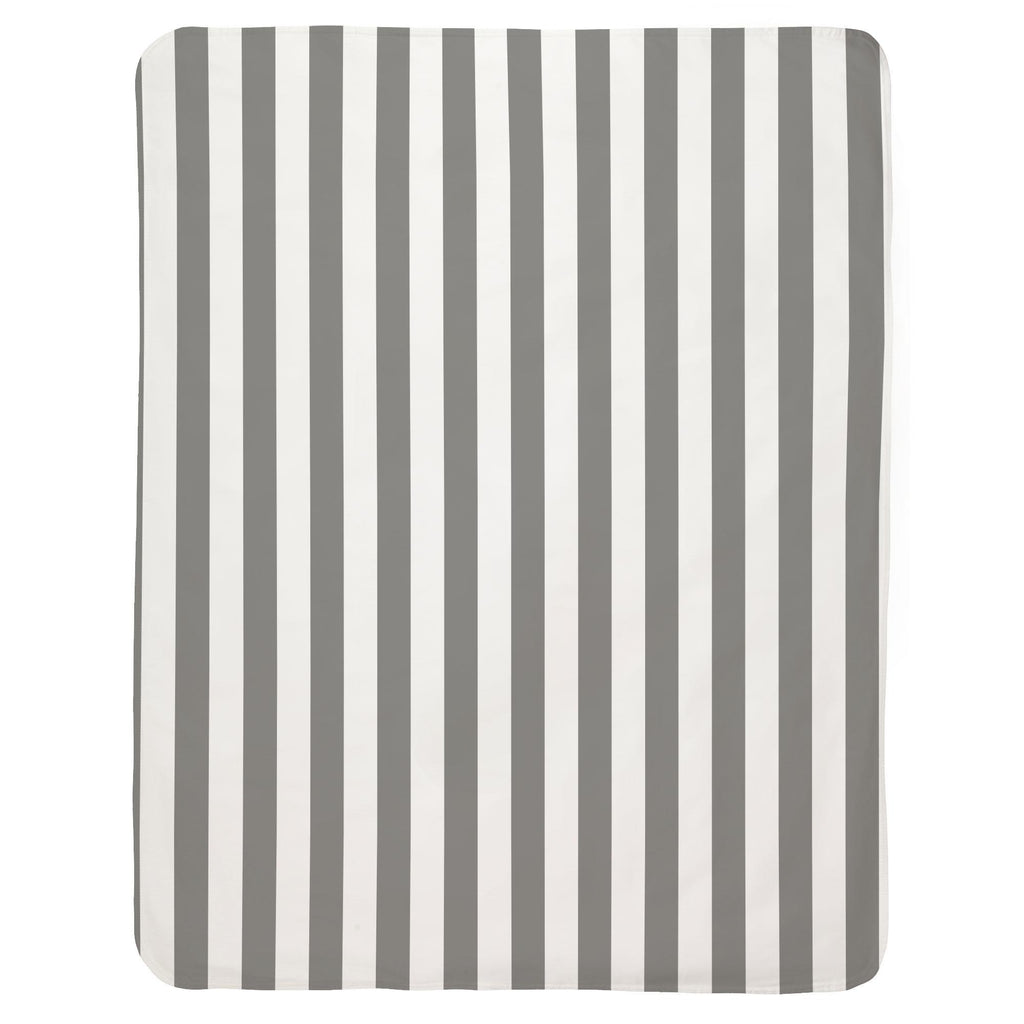 Product image for White and Gray Stripe Baby Blanket
