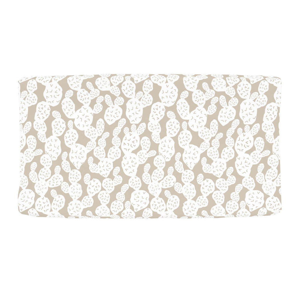 Product image for Taupe Prickly Pear Changing Pad Cover