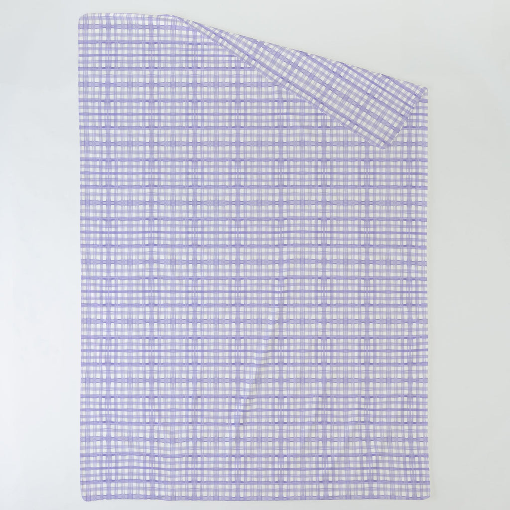 Product image for Lilac Watercolor Plaid Duvet Cover