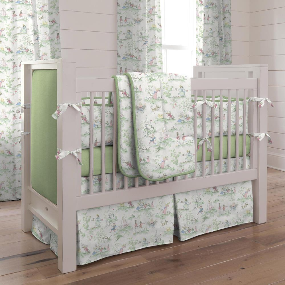 Product image for Nursery Rhyme Toile Crib Comforter with Piping
