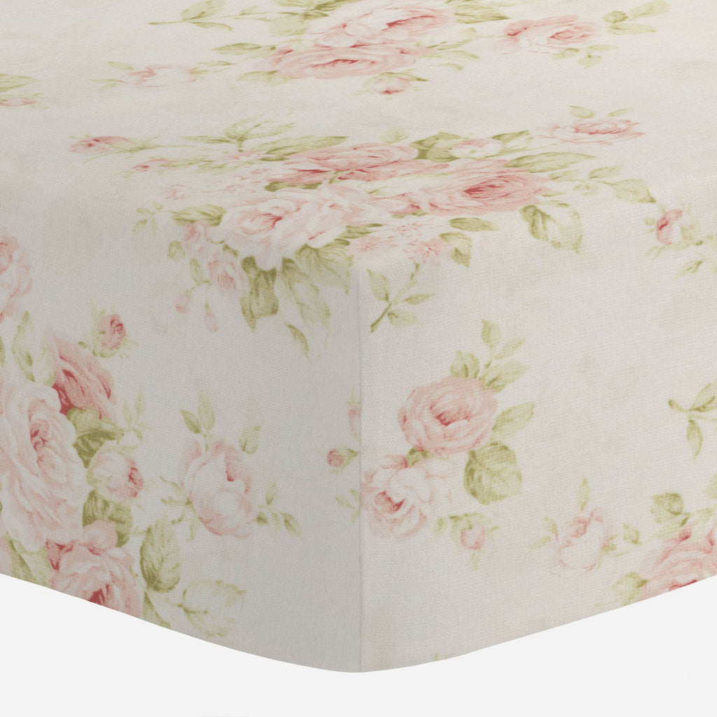 Product image for Pink Floral Mini Crib Sheet