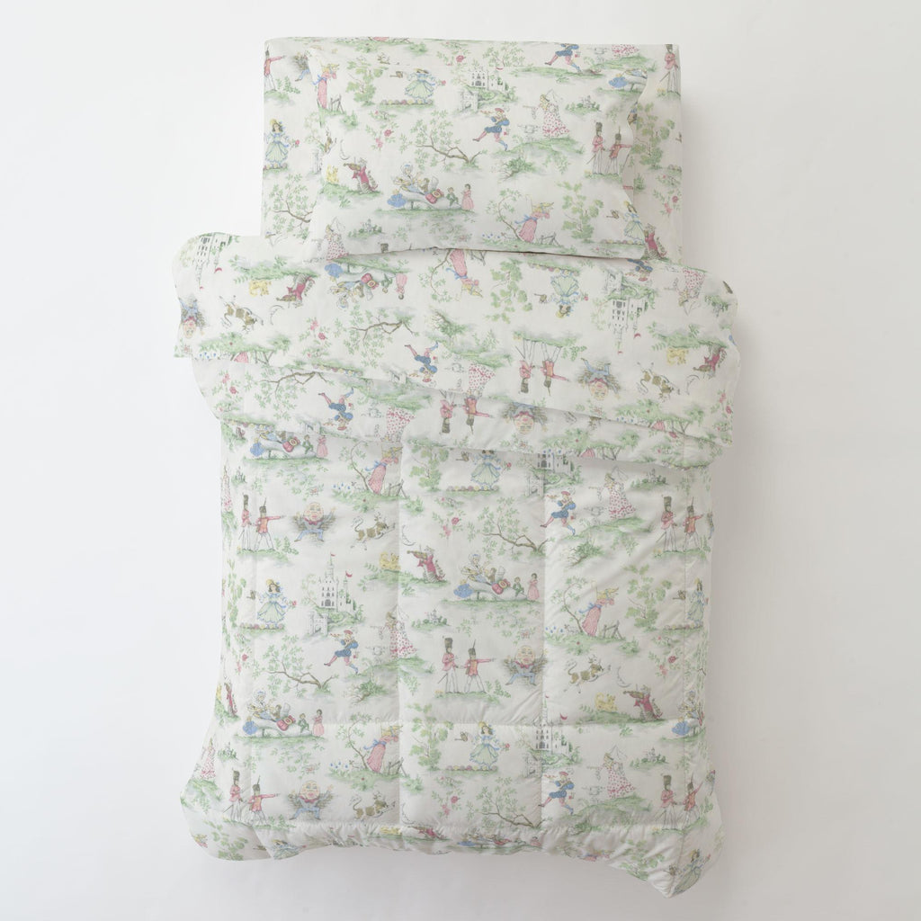 Product image for Nursery Rhyme Toile Toddler Pillow Case with Pillow Insert