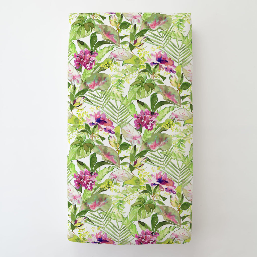 Product image for Tropical Garden Toddler Sheet Bottom Fitted