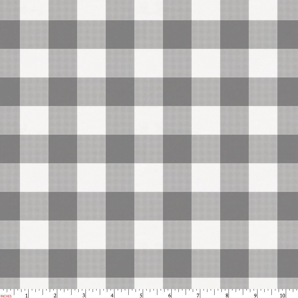 Product image for Gray Gingham Fabric