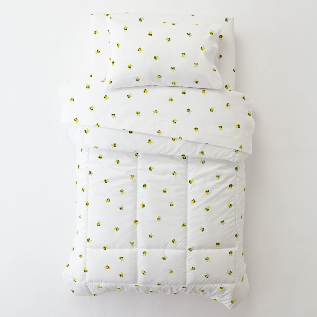 Product image for Watercolor Bees Toddler Pillow Case with Pillow Insert