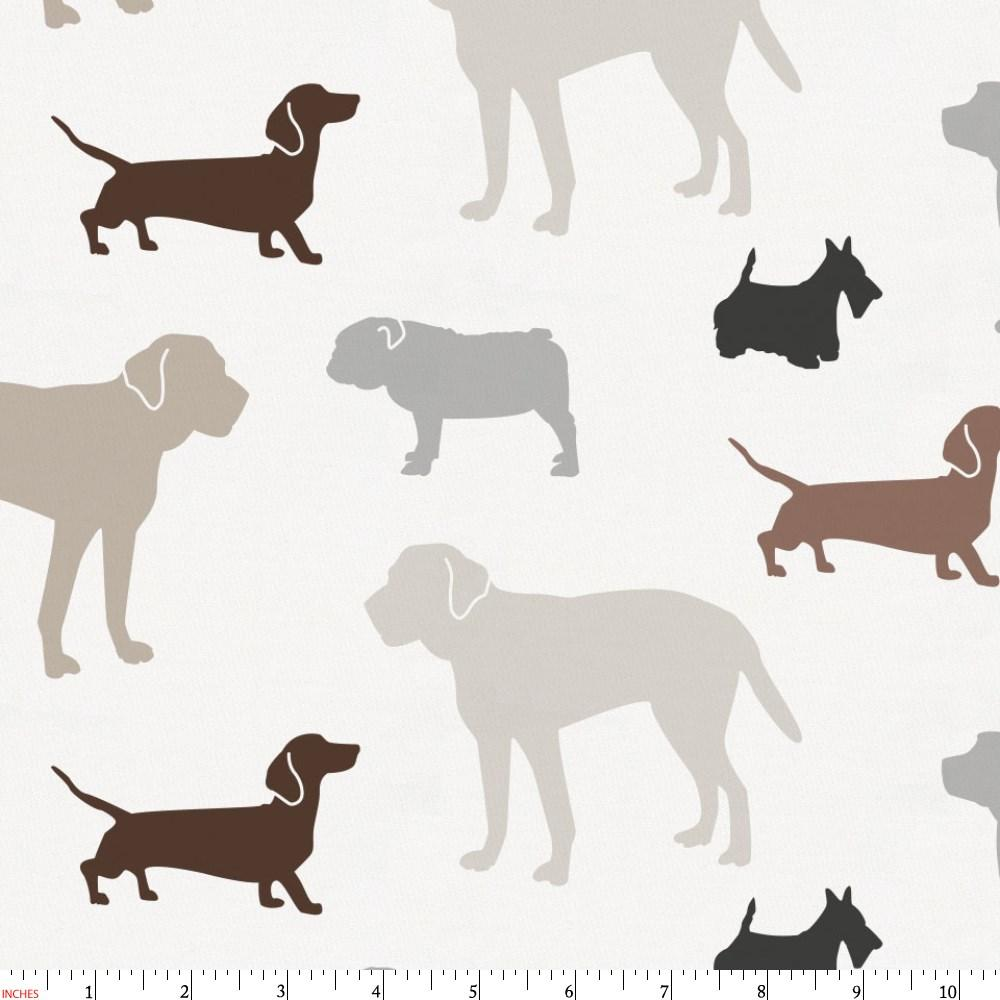 Product image for Brown and Gray Dogs Fabric