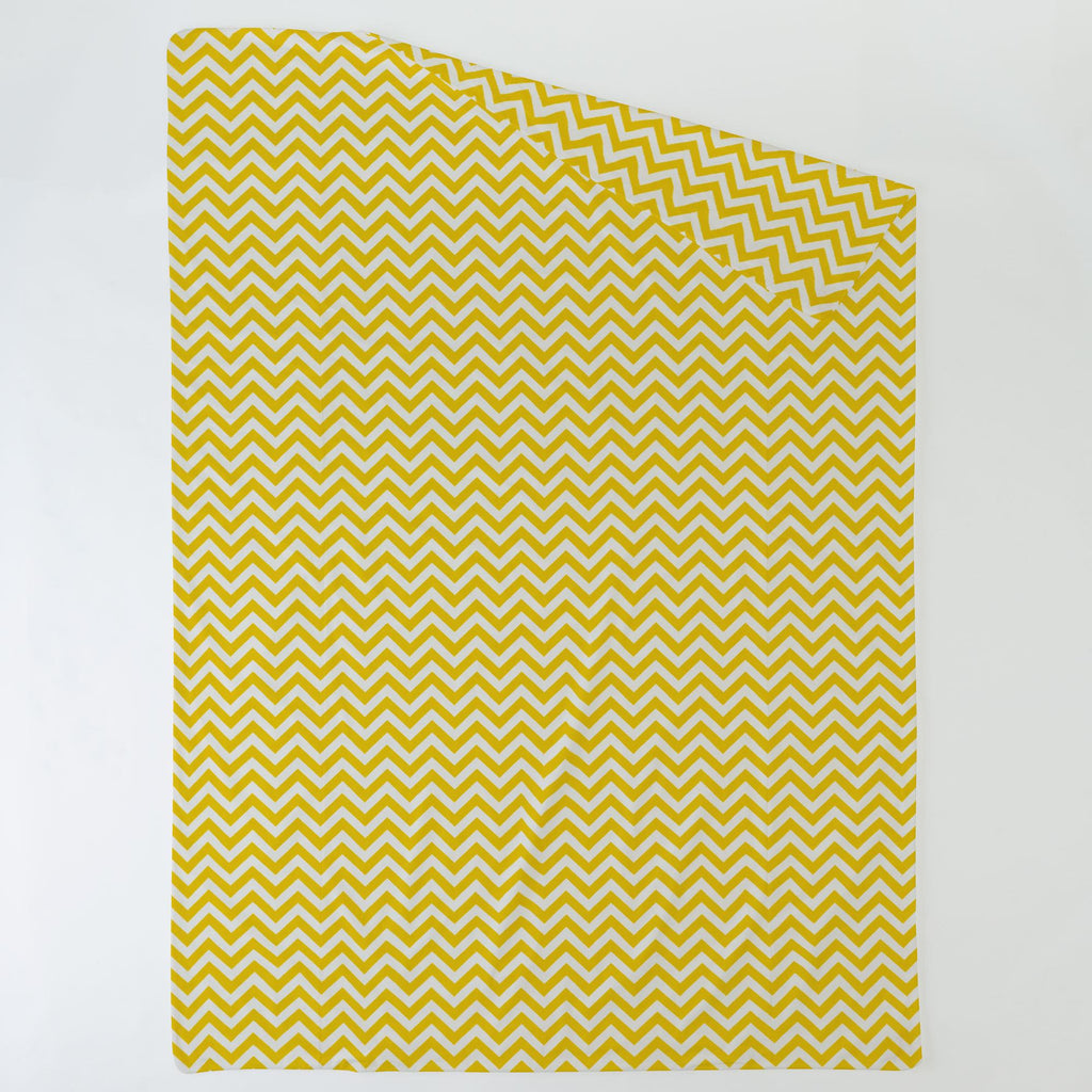 Product image for Yellow Zig Zag Duvet Cover