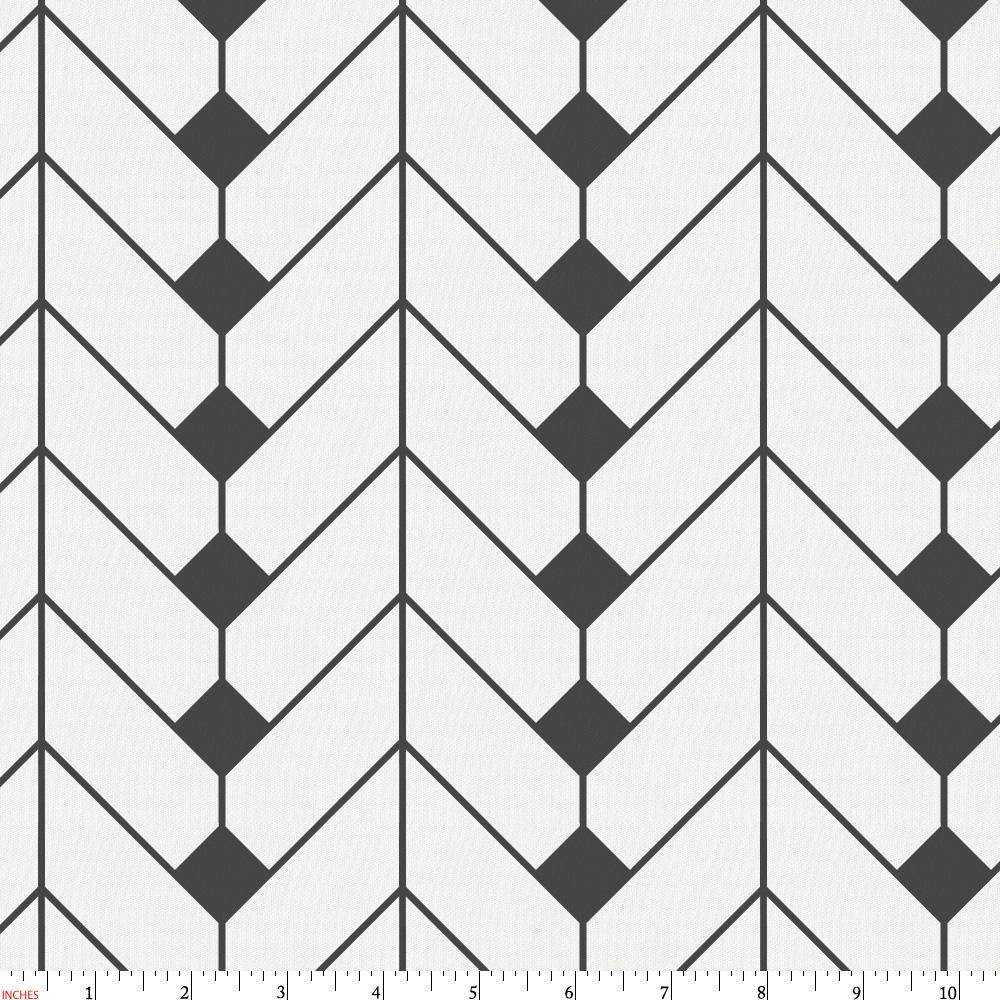 Product image for Charcoal Diamond Herringbone Fabric