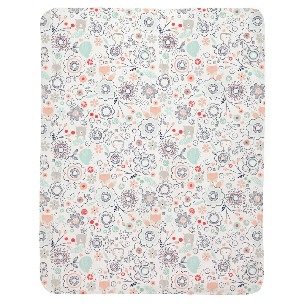 Product image for Coral Spring Doodles Baby Blanket