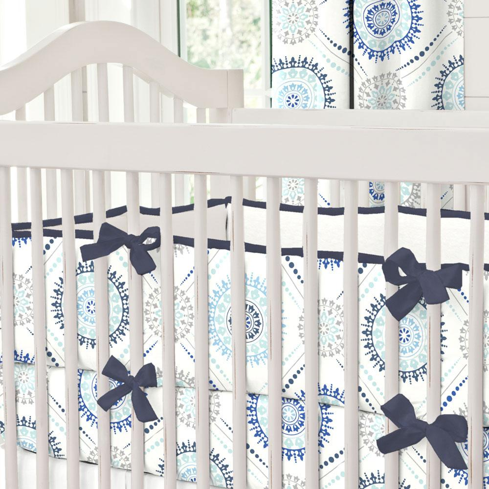 Product image for Solid White Minky Crib Bumper